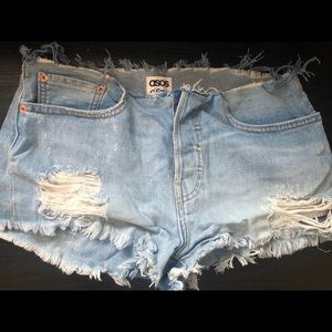 ASOS Distressed Jean Short
